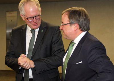 Ministerpräsident Armin Laschet und Landrat Cay Süberkrüb anlässlich des Vestischen Jahresempfangs zu Gast im Max Born Berufskolleg