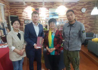 Daniel Schulze Frenking zu Besuch an der Fengtai Vocational School