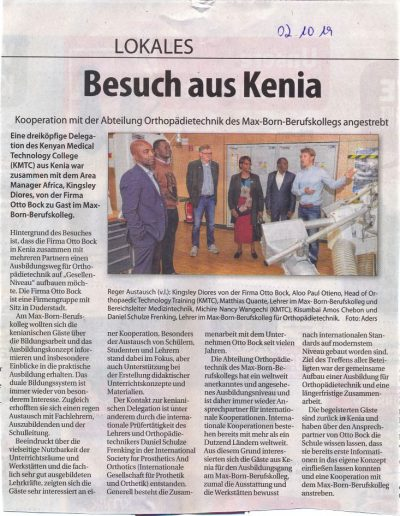 Kenia Delegation Medizintechnik 02.10.19