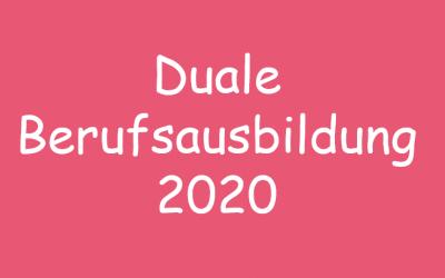 Duale Berufsausbildung 2020